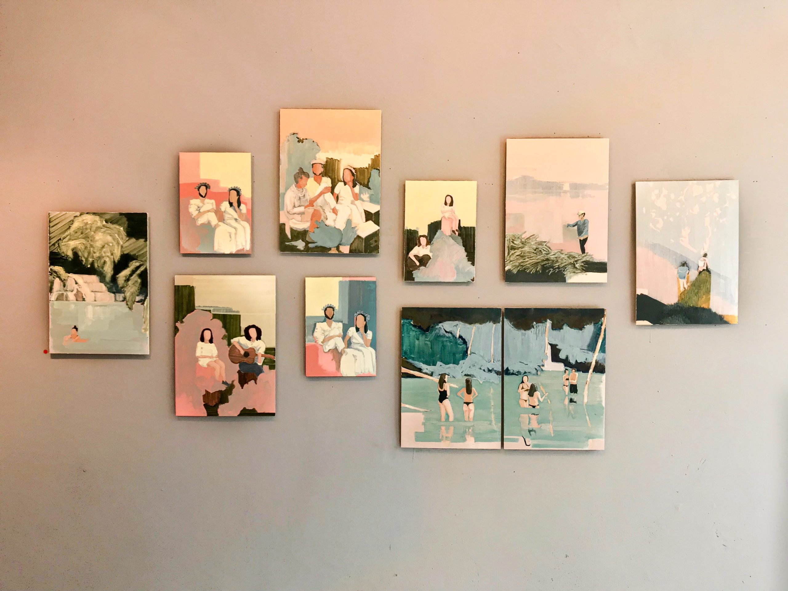 """Wall presentation, Solo-Exhibition """"Colors in the Outside"""""""
